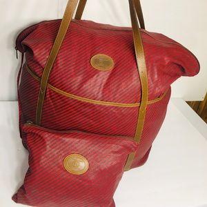 Gucci Rigate Line Vintage Boston Travel Bag
